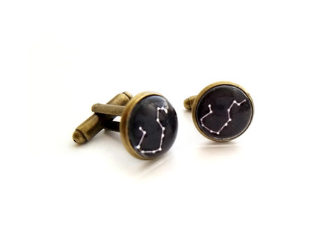 Mens,Constellation,Zodiac,Cufflinks,cufflink, for him, mens, constellation, zodiac, customizable, custom