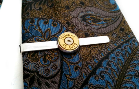 Bullet,Tie,Clip,Bar,For,Him,tie bar, for him, bullet accessory, military, police, gift, groom, groomsmen, mens accessories