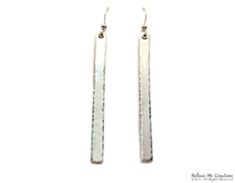 Sterling,Silver,Tower,Earrings,sterling, earring, dangle, dramatic, texture
