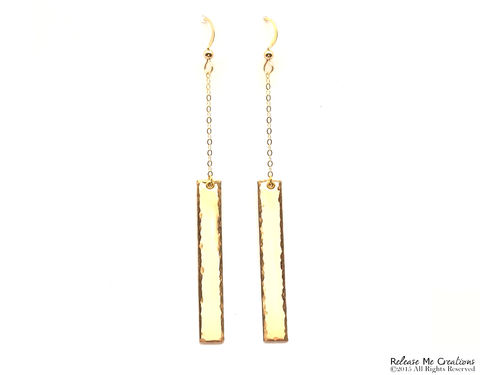 Vertical,Dangle,Earrings,14k,Gold,Filled,14k gold, dangle, earring, textured, dramatic, for her, glamour, fashion week