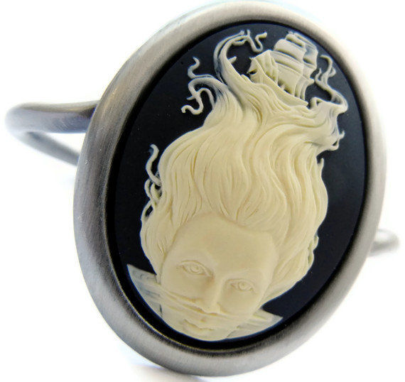 Nautical Dreamer Clipper Ship Cameo Cuff - product image
