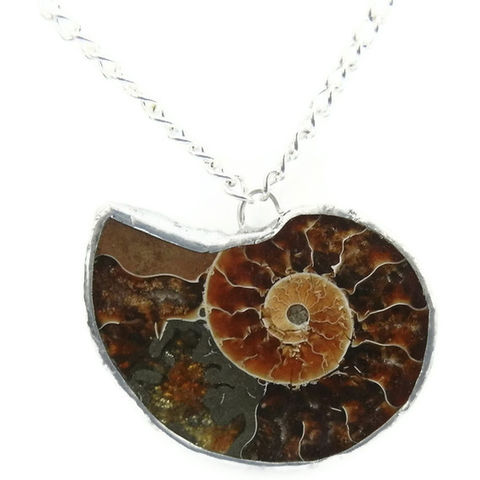 Ammonite,Fossil,Fibonacci,Silver,Necklace,handmade, nature, earthy, natural, fossil, ammonite, for her, gift, necklace