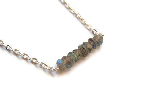 Petite,Labradorite,Blue,Flash,Necklace,labradorite, healing gemstones, healing gemstone necklace, healing jewelry, gemstone, blue flash, labradorite necklace, jewelry, for her, jewelry for her, necklace for her