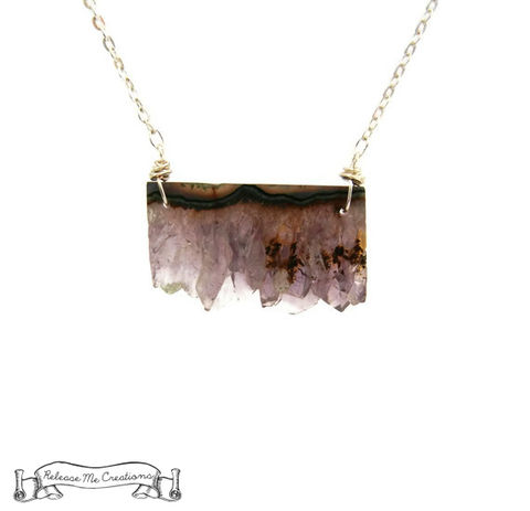 Rare,Amethyst,Druzy,Citrine,Slice,Necklace,druzy necklace, druzy slice necklace, amethyst druzy, amethyst druzy slice necklace, amethyst druzy slice pendant, for her, jewelry for her, releasemecreations, purple, blue, orange, healing gemstone, healing jewelry, healing necklace.