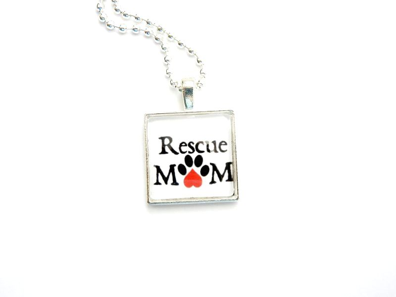 Rescue Mom Necklace Paws in the City Rescue Jewelry - product image