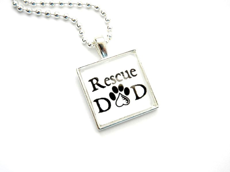 Rescue Dad Necklace Paws in the City Rescue Jewelry - product image
