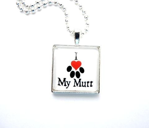 I,Love,My,Mutt,Necklace,Paws,in,the,City,Rescue,Jewelry,mutt necklace, mutt jewelry, rescue necklace, rescue jewelry, for him, for her, necklace, dog, cat, pet jewelry, pet necklace, charity, bright silver, pet lover necklace