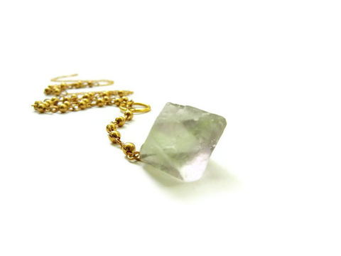 Fluorite,Octahedron,14k,Gold,Filled,Rosary,Style,Necklace,fluorite octahedron, fluorite gemstone, gemstone, jewelry, necklace, for her, 14k gold necklace, rosary, 14k gold rosary, rosary style necklace, release me creations