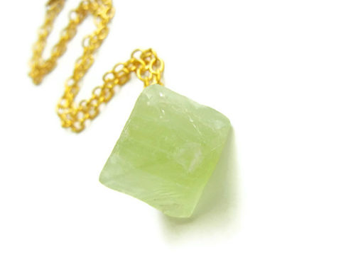 Light,Green,Fluorite,Octahedron,Gold,Necklace,fluorite octahedron necklace, fluorite, fluorite octahedron, necklace, for her, jewelry for her, release me creations