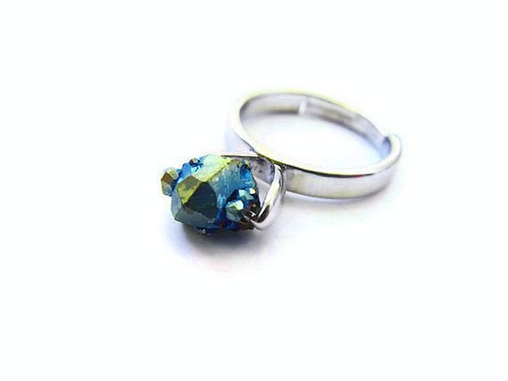 Floating Titanium Druzy Ring - product image