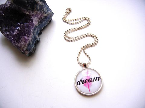 Dream,Pink,Feather,Necklace,release me creations, necklace, dream, pink, feather, for her, jewelry, positive
