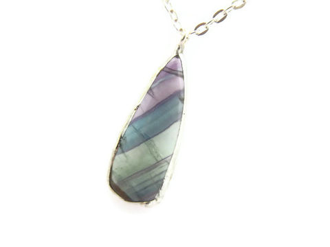 Stunning,Teardrop,Fluorite,Gemstone,Necklace, gemstone, necklace, for her, jewelry, blue, green, mint, seafoam, purple, releasemecreations