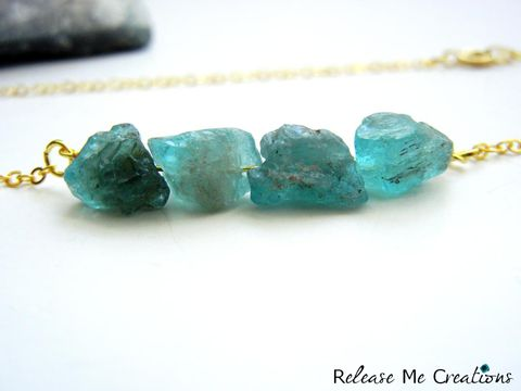 Petite,Raw,Chalcedony,and,Gold,Necklace,blue, gold, chalcedony, raw, gemstone, release me creations, gift, for her
