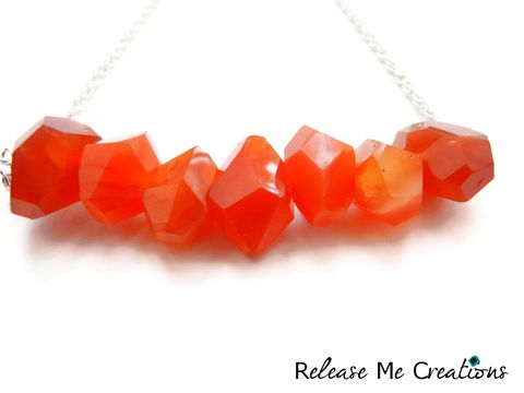 Floating,Carnelian,Dream,Necklace,necklace, carnelian, release me creations, jewelry, for her, bohemian, geometric, coral, orange