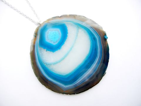 Dramatic,Statement,Blue,Waters,Agate,Necklace,blue, agate, statement, couture, dramatic, jewelry, for her, necklace, release me creations, large jewelry