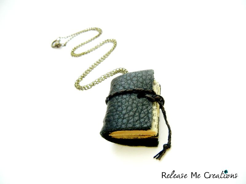 Miniature Book Leather Journal Necklace - product image