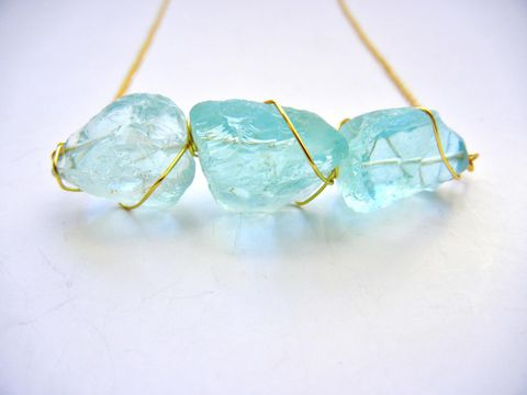 Golden,Caged,Ice,Quartz,Necklace,blue, ice, gold, Ice Quartz, Crystal, healing, for her, gift, jewelry, necklace, release me creations