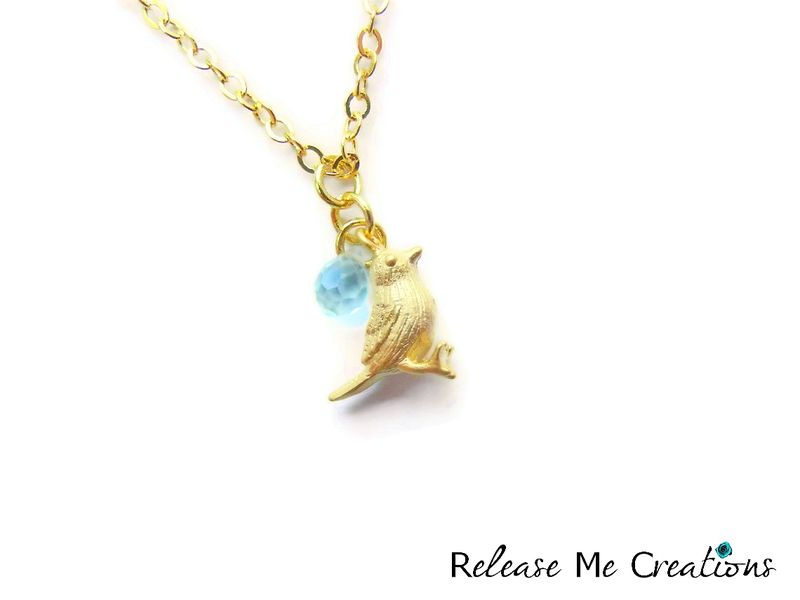 Romantic mint green gold bird necklace release me creations romantic mint green gold bird necklace product image mozeypictures Choice Image