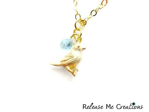 Romantic,Mint,Green,Gold,Bird,Necklace,romantic, whimsical, gold, mint green, teardrop, bird, for her, necklace, jewelry