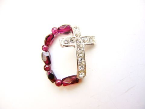 Red,Garnet,Silver,Sideways,Cross,Ring,red garnet, ring, gemstone, rhinestone, cross, christian, religious, crucifix, sideways cross