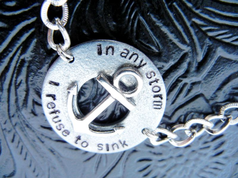 Nautical Anchor Bracelet In Any Storm I Refuse to Sink - product image