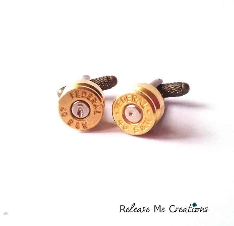 45 CAL Smith and Wesson Bullet Cufflinks - product image