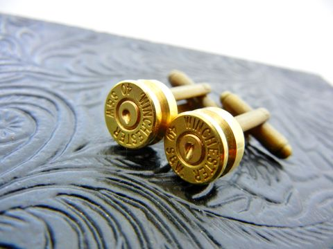 Winchester,Bullet,Cufflinks,For,Him,for him, bullet, winchester, jewelry, cufflink, outdoor gift, gun gift, nra gift, hunting,