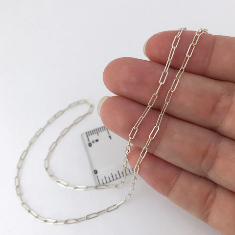 Adjustable,16,to,19,Inch,Length,Sterling,Silver,Chain,adjustable length Sterling silver chain,