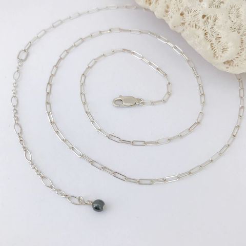 20,to,23,Inch,Adjustable,Sterling,Silver,Chain,adjustable length Sterling silver necklace, 23 inch Sterling chain