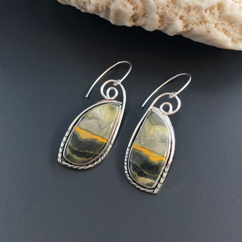 tumbled earrings jasper custom stone dangling set home yellow store
