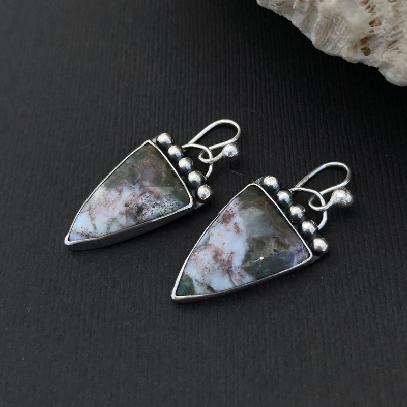 genuine com gemstone dp sterling natural square jewelry stone earrings red shape jasper silver drop amazon
