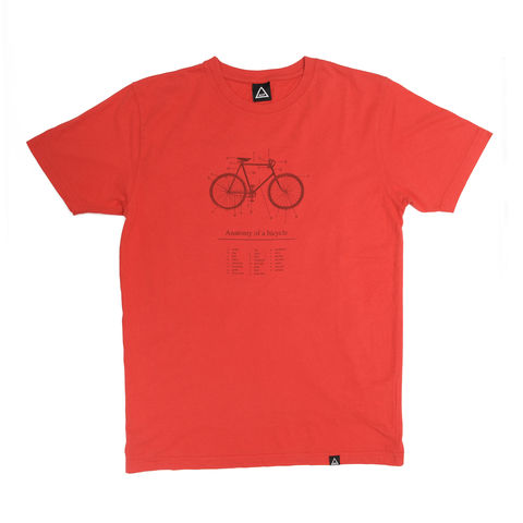 AOP,Anatomy,of,a,Bicycle,100%,Organic,T-shirt,MTB, Anthony Oram, AOP, Anatomy of a Bicycle t-shirt