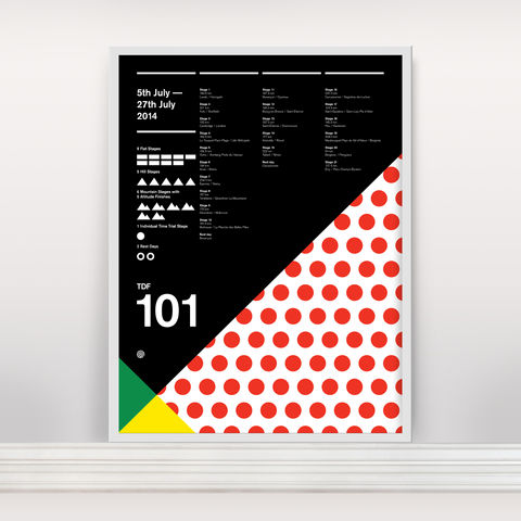 Le,Tour,101,-,Ltd,Edition,Screen Print, Typographic Poster, Tour de France