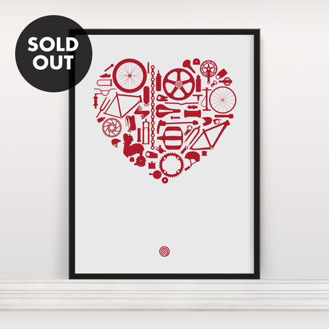 Bike,Love,-,Screen,Print,Screenprint, Screen Print, Bike, Cycle, Bike Love