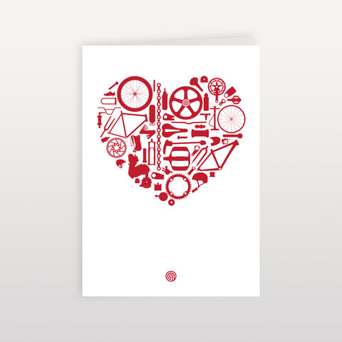 Bike,Love,120x170mm,-,Greeting,Card,Bike Love, Greeting Card, Anthony Oram