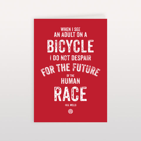 H.G.,Wells,Human,Race,Red,120x170mm,-,Greeting,Card,HG Wells, Greeting Card, Anthony Oram