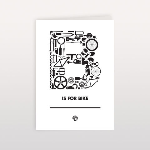 B,is,for,Bike,120x170mm,-,Greeting,Card,B is for Bike, Greeting Card, Anthony Oram