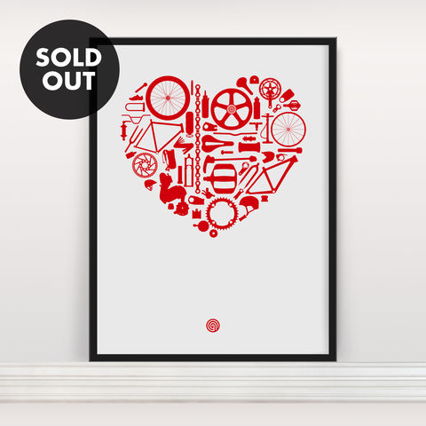 Bike,Love,-,Screen,Print,Edition,2,Screenprint, Screen Print, Bike, Cycle, Bike Love