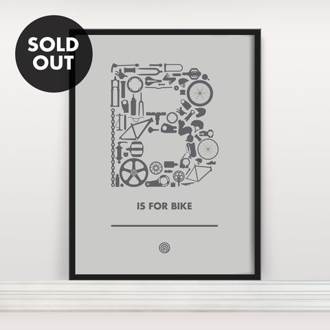 B,is,for,Bike,-,Screen,Print,Edition,3,Screenprint, Screen Print, Bike, Cycle, B is for Bike