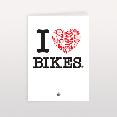 I,Heart,Bikes,120mmx170mm,-,Greeting,Card,Bike Love, Greeting Card, Anthony Oram