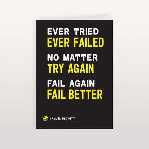 Ever,Tried,120x170mm,-,Greeting,Card,Ever Tried, Greeting Card, Anthony Oram
