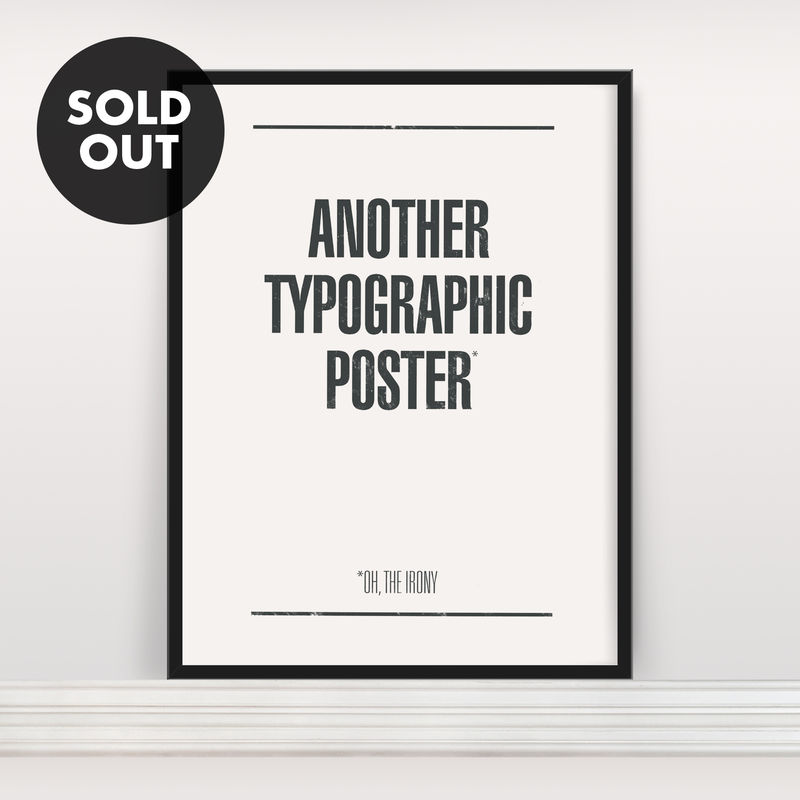 Another Typographic Poster - Screen Print - product images  of