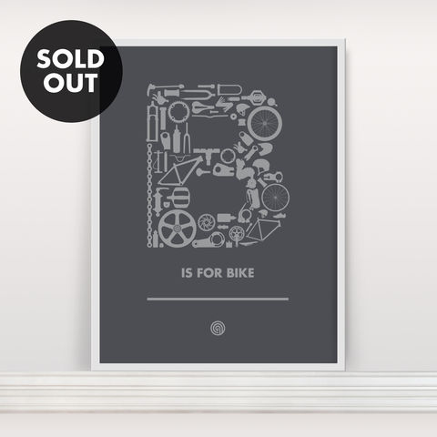 B,is,for,Bike,-,Screen,Print,Edition,2,Screenprint, Screen Print, Bike, Cycle, B is for Bike