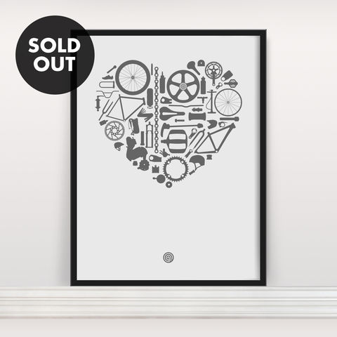 Bike,Love,-,Screen,Print,Edition,3,Screenprint, Screen Print, Bike, Cycle, Bike Love