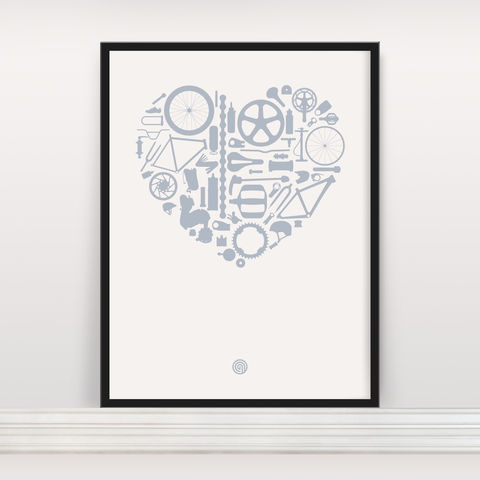 Bike,Love,-,Screen,Print,Edition,5,Screen Print, Typographic Poster, Bike Love