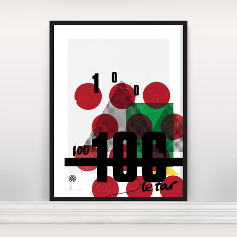 Le,Tour,100,-,Ltd,Edition,Screen Print, Typographic Poster, You Can't Buy Happiness