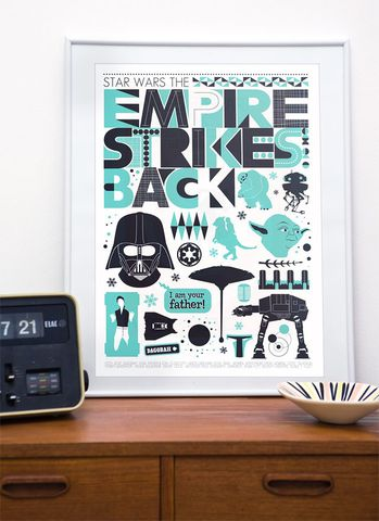 Star,Wars,print,movie,poster,-,The,Empire,Strikes,Back,Retro,Scandinavian,style,Art, Print, star wars, movie poster, vintage, darth vader, retro,star wars print, star wars poster, nursery art, star wars art, star wars nursery, minimalist movie poster