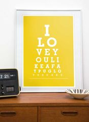 Typography,print,eyechart,poster,Pug,art,-,I,love,you,like,a,fat,pug,loves,cake,A3,or,A4,,12,x,16,8,12,choose,your,color,Art,Print,typography_print,pug_art,quote,words,tpyography_poster,yellow,cupcake,love_print,dogs,retro,wall_decor,paper