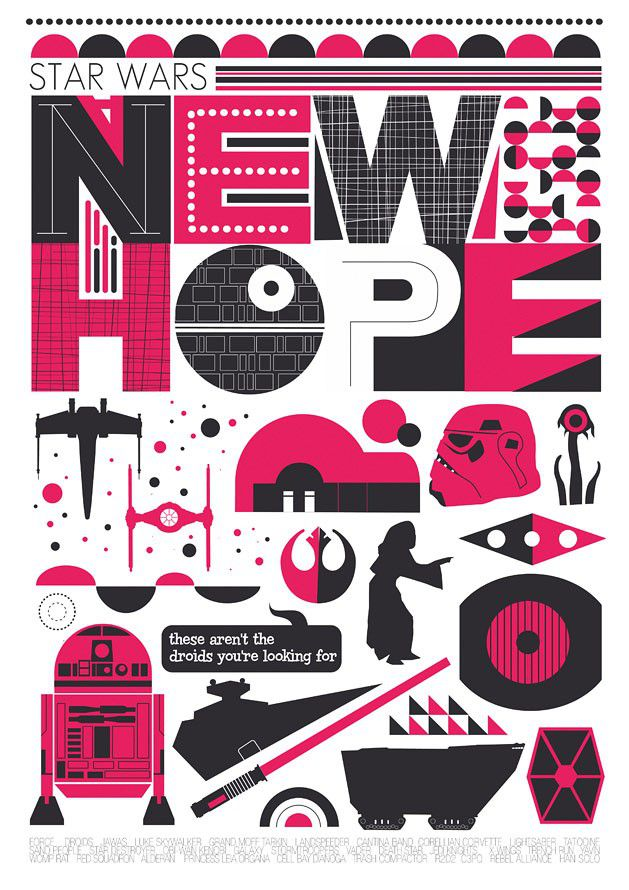 Star Wars A New Hope - minimalist movie poster  - product images  of