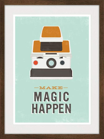 Polaroid,Poster,Quote,Print,Retro,Camera,poster,Typography,art,-,Make,Magic,Happen,A3,Art,Giclee,print,midcentury_moder,polaroid_print,polaroid_poster,typography,magic,quote_print,polaroid,camera,retro_print,pop_art,lomography,paper